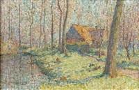 paysage à l'étang by emile ancelet