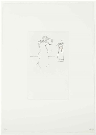 sewing, from: autobiographical series by louise bourgeois