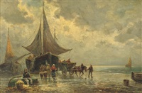 daily activities on the beach by jan cornelis hofman