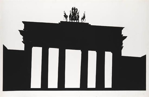 empire trilogy brandenburg gate berlin by robert longo