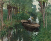 on the river by willard leroy metcalf