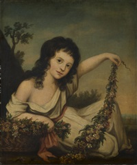 ritratto di amelia griffin by nathaniel hone the elder