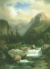 kuohuva puro vuoristossa by franz hengsbach