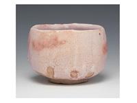 shino tea bowl by arakawa toyozo