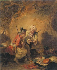 tartar thieves dividing their spoils by sir william allan