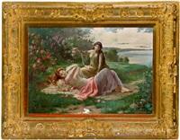 die rosenmädchen by anton raufer-redtwitz