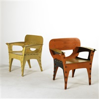 puzzle chairs (pair) by david kawecki