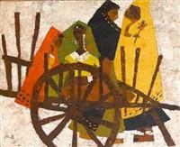 women with cart by modi