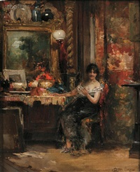 the interrupted sitting by edward percy moran