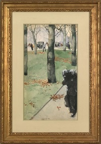 park scene by fernand harvey lungren