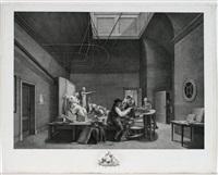 das innere des prächtigen hörsaales der künstlergesellschaft felix meritis in amsterdam (after p. barbiers und j. kniper) by reinier vinkeles