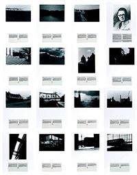 john vanderpant: 15 vues de glooscap présentées et commentées par les archives municipales (15 works (+ sans titre, charcoal on paper); 16 works) by alain bublex