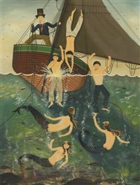 mermaids and sailors taking a dip by ralph eugene cahoon jr.