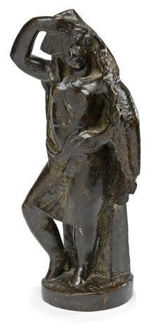 bailarina con un abanico by manolo (manuel hugue)