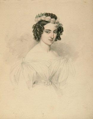 portrait einer jungen dame by johann nepomuk ender