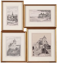 schloss runkelstein bei bozen (+ 5 others; 6 works) by hans reichl