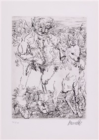 the hunter (j.57) by georg baselitz