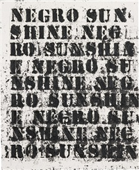 study for negro sunshine ii #10 by glenn ligon