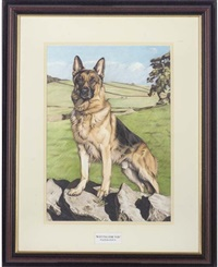 waiting for you, an obedient german shepherd by maria heskins