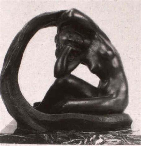 desnudo femenino con velo envolvente by juan de avalos