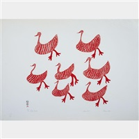 red birds by sharni pootoogook