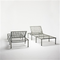 chaise lounges from windsor i, vero beach florida (pair) by hugh newell jacobsen