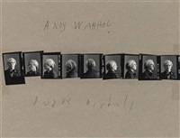 andy warhol, c. 1973 (9 works) by duane michals