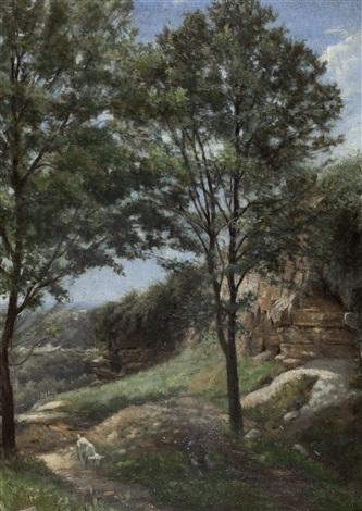 pastoral scene by stanislas lépine