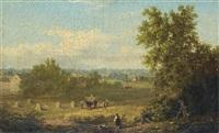 paysage et moisson au conneticut by xanthus russell smith