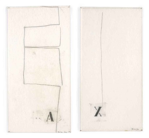untitled (+ another; 2 works) by mira schendel