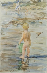 child at the beach by marian williams steele