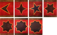 sette stelle (portfolio w/ set of 7) by sol lewitt