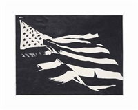 as yet untitled (flag) by banks violette
