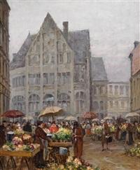 blumenmarkt am platzl in münchen by charles vetter