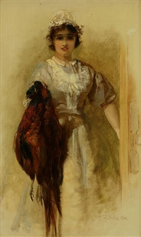 a pair of pheasants by george elgar hicks