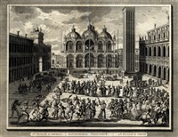 venetian carnival scenes (set of 6) by pierre van der aa