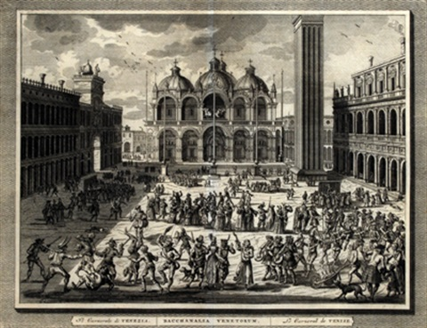 venetian carnival scenes set of 6 by pierre van der aa