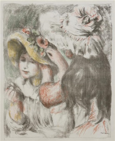 le chapeau epingle by pierre auguste renoir