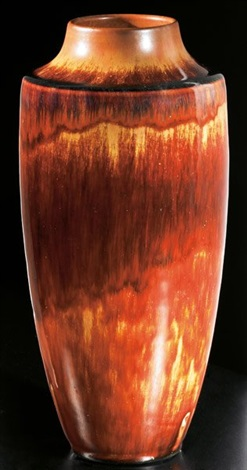 tall vase by grand feu art pottery