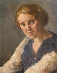 portrait of artist's wife by edmund pick morino