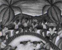 combat de coqs by toussaint auguste