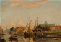 view of the harbor by john frederik hulk the younger