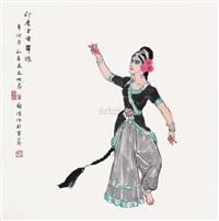 印度古典舞娘 by jiang caiping