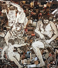 vulcan forges cupid's arrow, after alessandro tiarini from pictures of junk by vik muniz