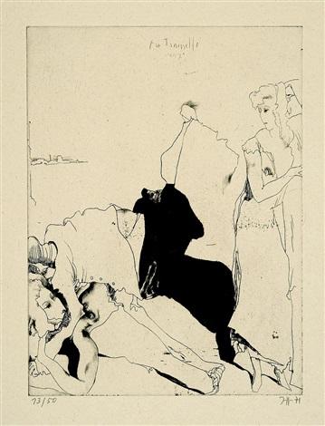 die braut (aus der mappe carnevale di venezia i) by horst janssen