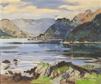 loch long and loch goil from portincaple on the clyde estuary by violet mcneish kay