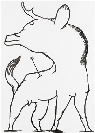 untitled wild animal by david shrigley