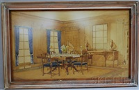 george iii style (study) (+ italian renaissance style (study); 2 works) by carroll bill