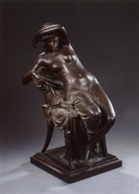 seated woman by louis julien (jules) franceschi
