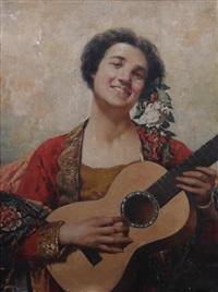 suonatrice di chitarra by temistocle lamesi